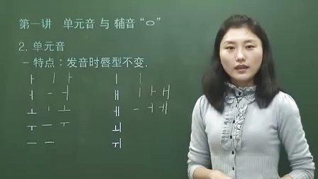 韩国语基础第1课