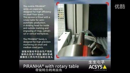 ACSYS配旋转台的激光设备打标视频