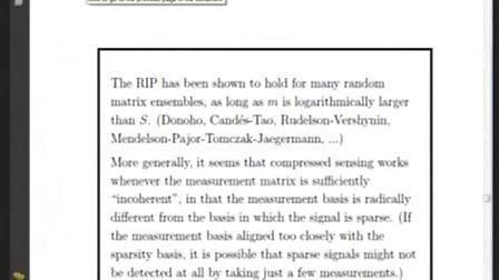 陶哲轩 compressed sensing 5(the Lar Onsager Lecture)