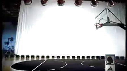 科比三分线起跳扣篮