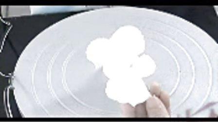 大直玫瑰嘴-蛋糕模型 蛋糕裱花 制作过程 花嘴使用方法 DIY蛋糕DIY