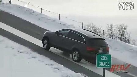 Acura(讴歌) SH-AWD冰雪爬坡对比展示 RX350 Q7 MDX