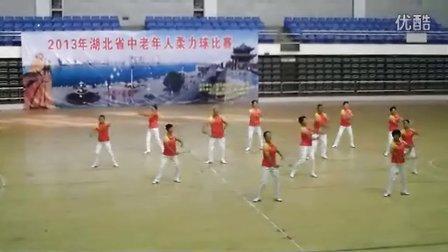 襄阳市襄城区代表队获2013年湖北省老年人柔力球比赛金奖