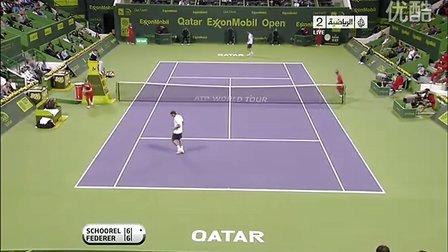 ATP.2011.Doha.1R.Schoorel.vs.Federer HL