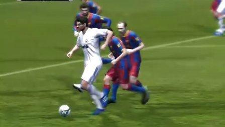 实况足球2011 试玩 巴萨VS皇马 4比1