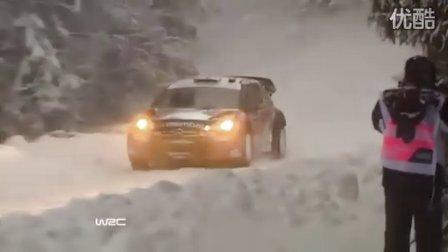 2011WRC瑞典站Shakedown:JML领先 Kimi,Block撞雪堆