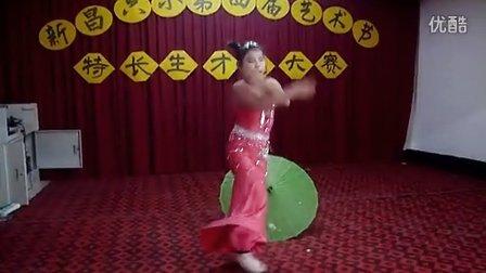 傣族舞《竹林深处》周薇 江西省宜丰县新昌六小四(3)班