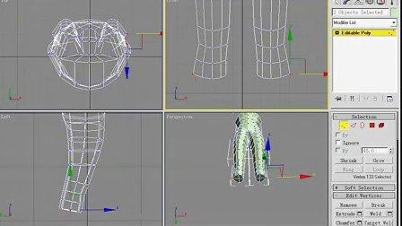 3d MAX 人体建模教程[低模身体]