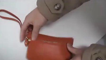 女士真皮零钱包 日韩流行简约牛皮手机包50592