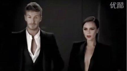 清晰版!小贝夫妇最新香水广告 演绎电梯内激情