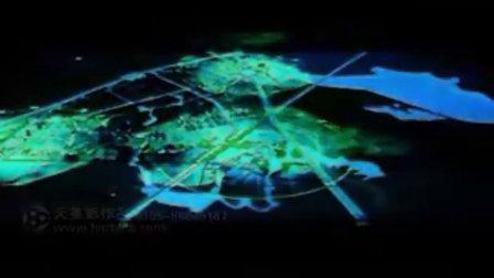 湖北大都新城新城规划声光电动投影沙盘展示(天美影作品)