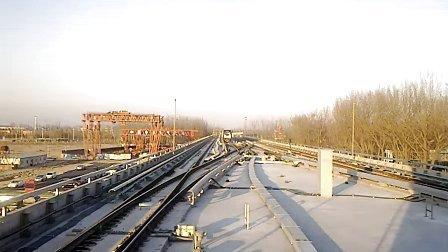 北京后沙峪15号线列车折返