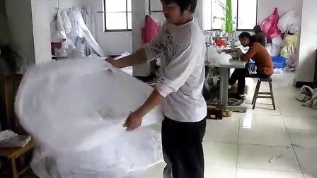裙撑折叠,收回合衬裙,新娘蓬裙收纳厂家实拍视频