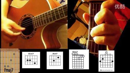 【无颜教学】关喆 想你的夜 吉他教学视频