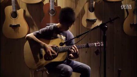 湖南长沙指弹吉他群友会8,小罗表演《landscape