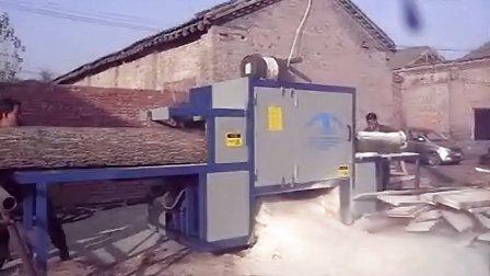 多片锯 原木多片锯 圆木多片锯 正启机械厂 400原木3米长加工现场