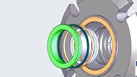 TSSC-FS02 组装动画 机械密封 单端面密封 上海天示