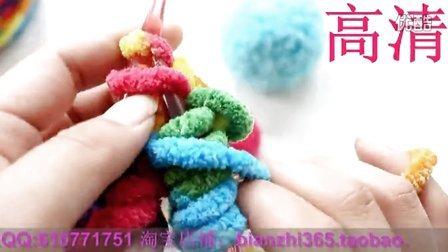高清 双情人网围巾的编织方法 织围巾编织花样视频