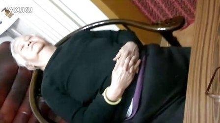 熟睡的胖老奶奶