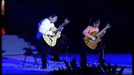 古典吉他二重奏久石让《风之丘》小蒋吉他NO:059