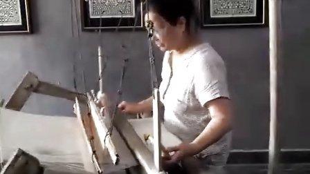 乐清蓝夹缬专题展织布视频-乐清街网站网友拍摄