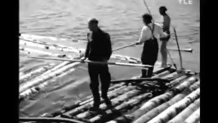 Kaksi vanhaa tukkijätkää (1951, FINLAND)