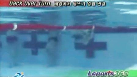 韩国仰泳、蛙泳、蝶泳、自由泳转身示范