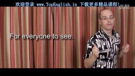 【老外教你说口语】 第五十五课 - 英语口语学习视频