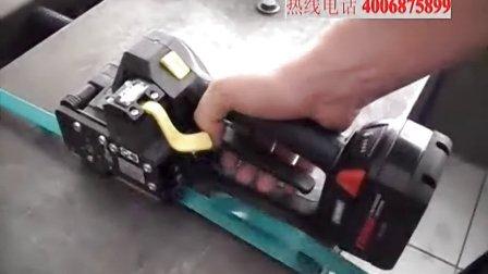 FROMM P327塑钢带电动打包工具的操作