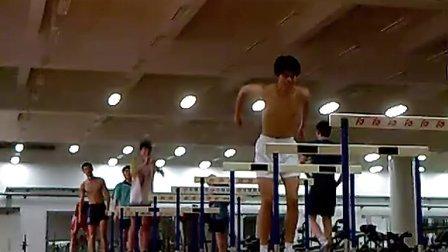 2011执教江苏男排2队跳蓝架训练