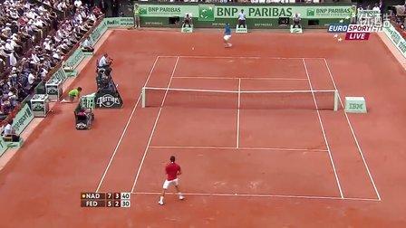 2011法国网球公开赛男单决赛 费德勒VS纳达尔 HL