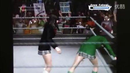 WWE SVR 女高中生要害攻击
