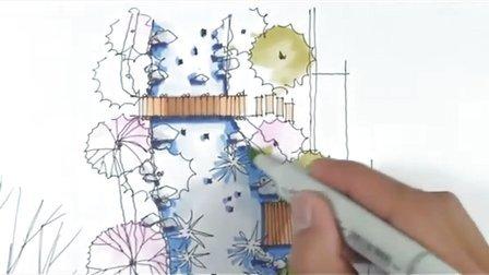 陈马扶老师 园林景观手绘(三)-广州疯狂手绘培训视频教程