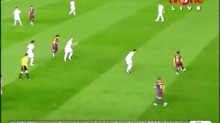 2011年4月21日 西班牙国王杯决赛 巴萨vs皇马 上半场