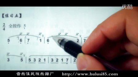 52 葫芦丝技巧叠音讲解练习 竹林深处片段练习