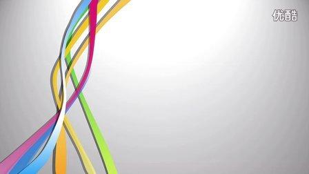 立体线条流动PPT模板(精品动画)
