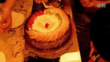 唱生日歌,吃蛋糕