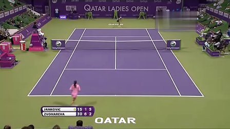2011 Doha SF Vera Zvonareva vs Jankovic EU set23