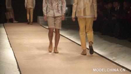 【模特中国】中国国际时装周2014春夏 曾凤飞男装发布会