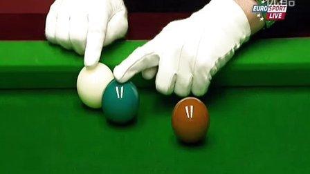 斯诺克世锦赛丁俊晖VS塞尔比第二十三局,丁俊晖连扳三局,13:10战胜塞尔比,首次杀进世锦赛四强