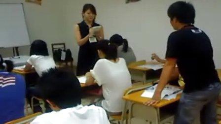 韶关现代日语学校日本老师玉城隆子上课实况2