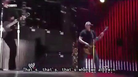 WWE 劳军节目 Nickelback 现场演唱When we stanld to gether