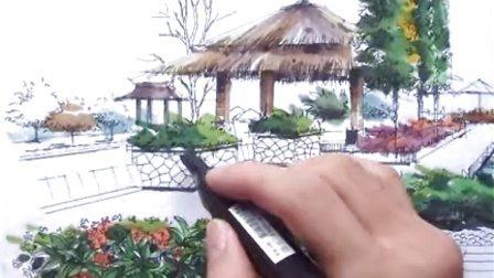 陈立飞老师 园林景观手绘教程(5)—广州零角度手绘培训视频