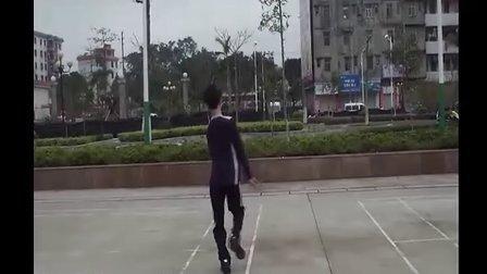 博白广场舞-爱上草原爱上你(反面)