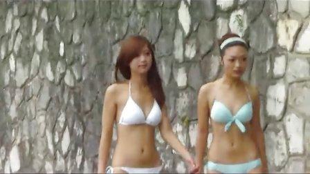 桂林伏波山泳装秀