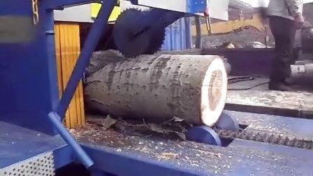 多片锯 圆木多片锯 原木多片锯 正启机械厂 400原木3米长加工现场