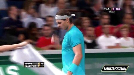 ATP 2013巴黎大师赛 第三轮 纳达尔VS扬诺维茨 HL