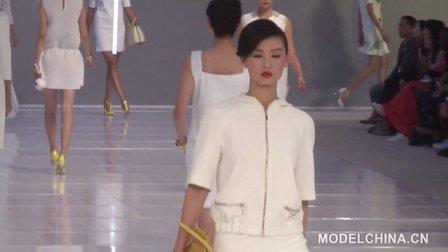 【模特中国】中国国际时装周2014春夏 白领•付奎高级成衣发布会