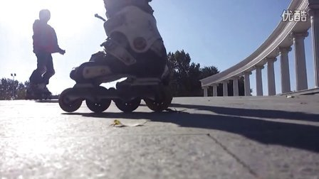 《天策轮滑刹车教学 1 》04.速降(斜坡)刹停