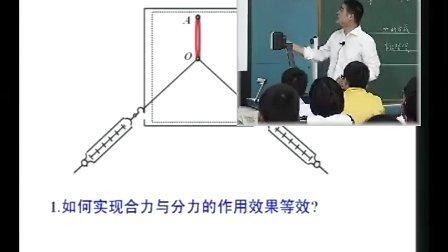 2013年江苏省高中物理优质课评比《力的合成》淮阴中学张东风